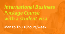 International Business Package Course with a student visa Mon to Thu 18hours/week