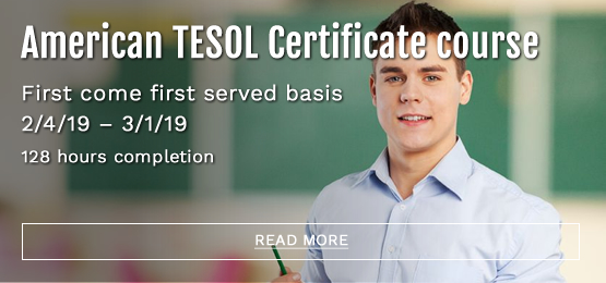 American TESOL 2/4/19 - 3/1/19 128 hours completion