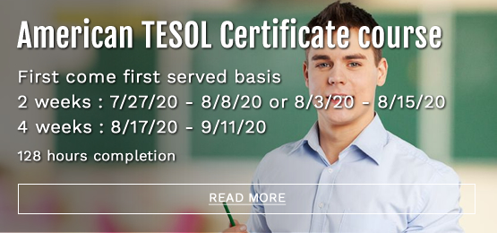 American TESOL 128 hours completion